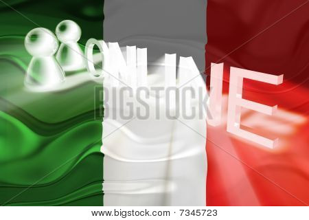 Flag Of Italy Wavy Online
