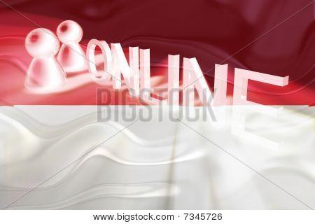 Flag Of Monaco Wavy Online