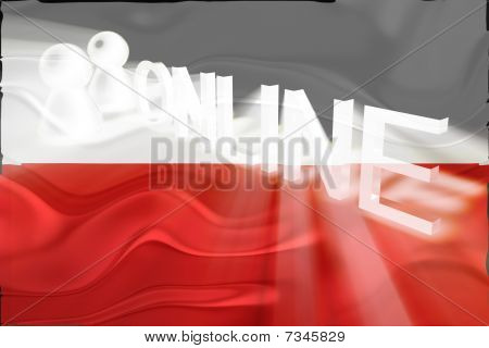 Flag Of Poland Wavy Online