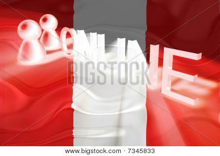Flag Of Peru Wavy Online