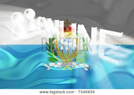 Flag Of San Marino Wavy Online