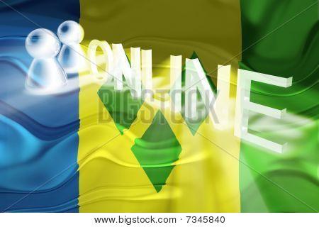 Flag Of Saint Vincent And Grenadines Wavy Online
