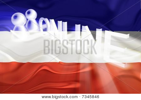 Flag Of Serbia And Montenegro Wavy Online