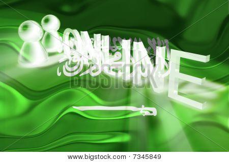 Flag Of Saudi Arabia Wavy Online