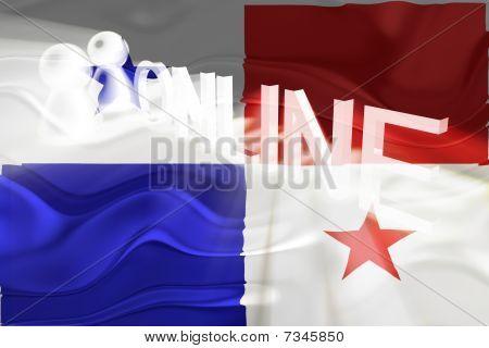 Flag Of Panama Wavy Online