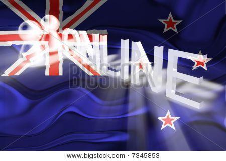 Flag Of New Zealand Wavy Online