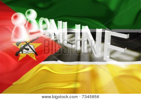 Flag Of Mozambique Wavy Online