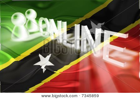 Flag Of Saint Kitts And Nevis St. Wavy Online