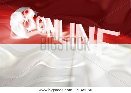 Flag Of Singapore Wavy Online