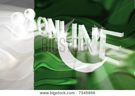 Flag Of Pakistan Wavy Online
