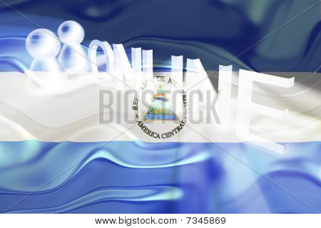 Flag Of Nicaragua Wavy Online