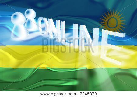 Flag Of Rwanda Wavy Online