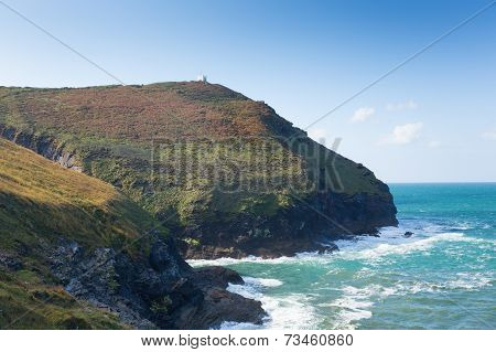 Boscastle coast North Cornwall between Bude and Tintagel England UK on a beautiful autumn day