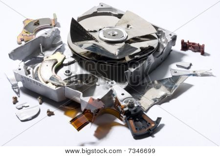 Demolished Hard-disk