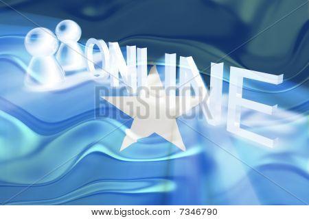 Flag Of Somalia Wavy Online