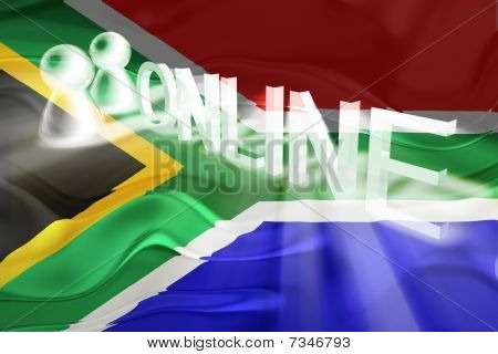 Flag Of South Africa Wavy Online
