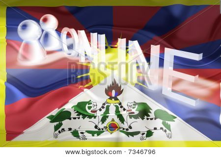 Tibet Flag Wavy Online