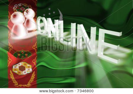 Flag Of Turkmenistan Wavy Online