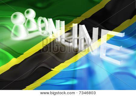 Flag Of Tanzania Wavy Online