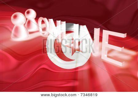 Flag Of Tunisia Wavy Online