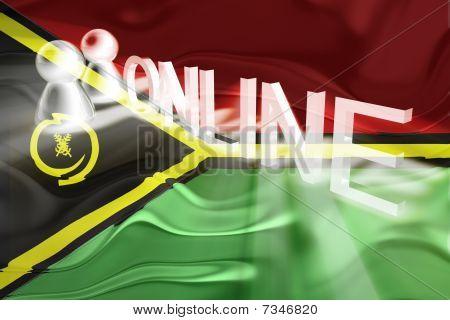 Flag Of Vanuatu Wavy Online