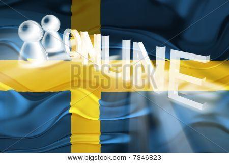 Flag Of Sweden Wavy Online