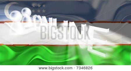Flag Of Uzbekistan Wavy Online