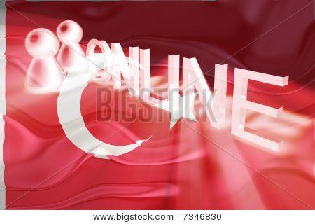 Flag Of Turkey Wavy Online