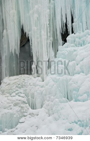 Frozen spring (Zanskar, Indian Himalayas)