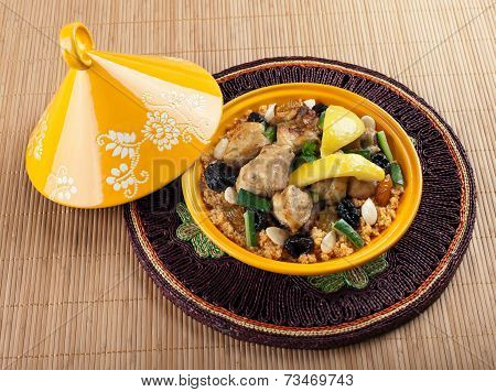 Tajine, Moroccan Chicken With Lemon Confit