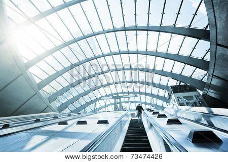 Canary Wharf metro Station, London, England, UK