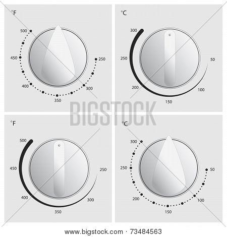Oven Dial Vector