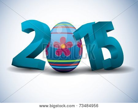 2015 Easter - 3d Text with Easter Egg