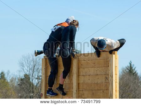 Climb On Wooden Board