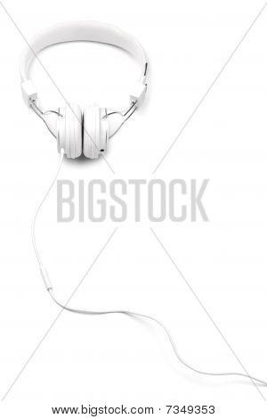 White Headphones On White.