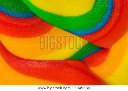 Texture of lollipop macro