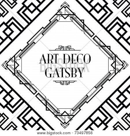 Printart deco gatsby style background