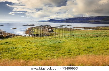 Scenic view of Westfjords in Iceland
