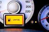 contrast image sensor fuel warning Low fuel level. horisontal poster