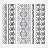 Chain links in islamic pattern poster