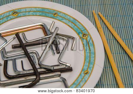 Allen Keys In A Plate