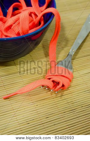 Shoestrings And Fork