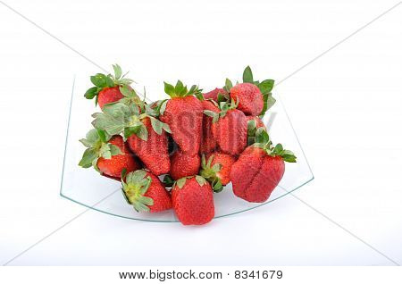 Strawberries In Glass Bowl