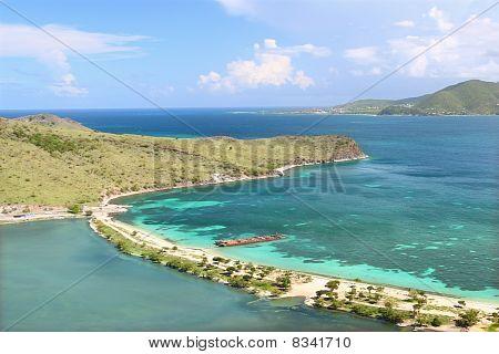 Beautiful beach on Saint Kitts