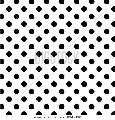 Seamless Polka Dot Pattern, White Backgrund