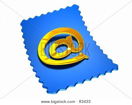 Blue Internet Stamp