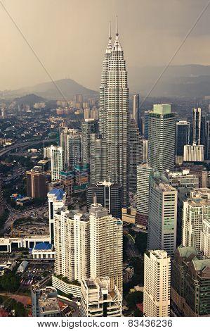 View of Petronas Twin Towers from Menara KL