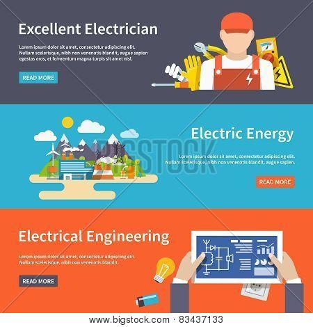 Electricity Banner Set