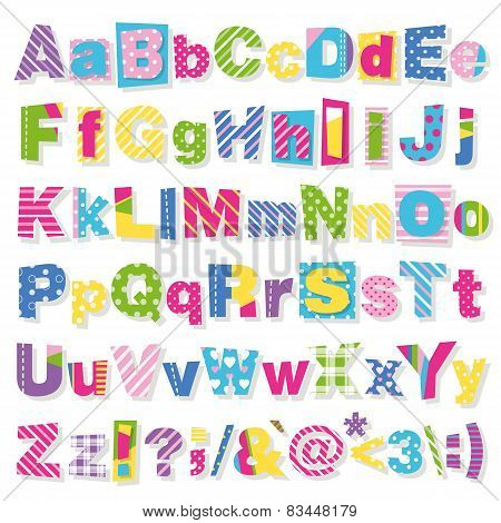 colorful letters collection