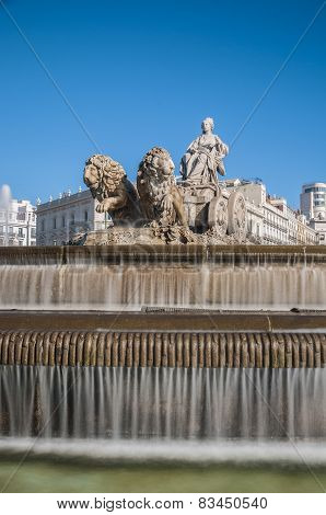 The Fountain Of Cibeles In Madrid, Spain.